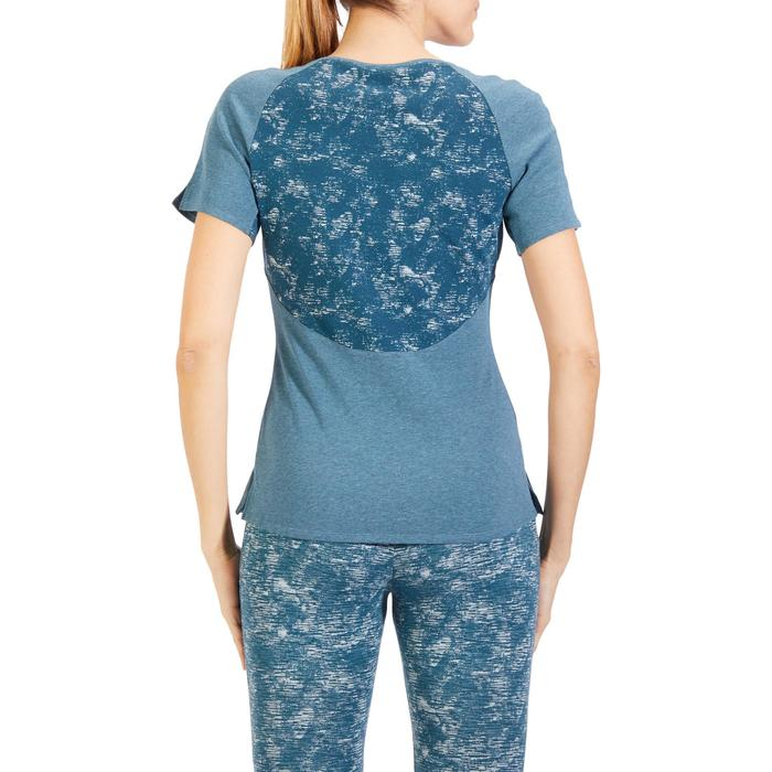 T-Shirt 520 manches courtes Gym & Pilates femme gris chiné clair - 1318484