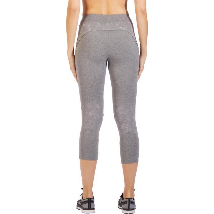 Legging 7/8 520 Gym & Pilates femme gris chiné - 1318487