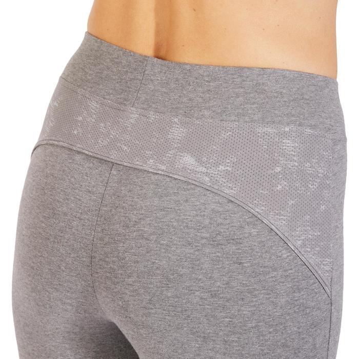 Legging 7/8 520 Gym & Pilates femme gris chiné - 1318489