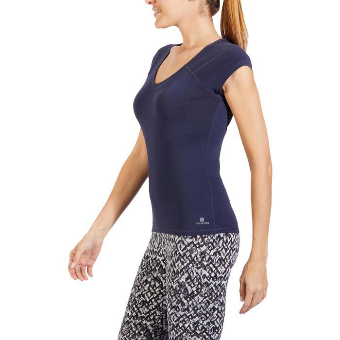 500 Women's Slim-Fit Stretching T-Shirt - Black - 1318490