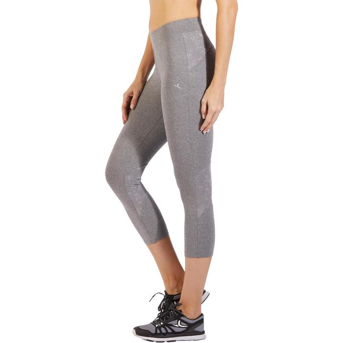 Legging 7/8 520 Gym & Pilates femme gris chiné - 1318493