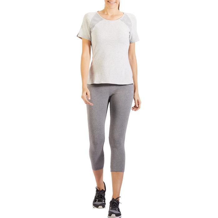 7/8-dameslegging 520 voor gym en pilates, gemêleerd grijs