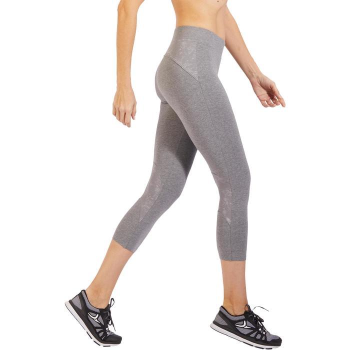 Legging 7/8 520 Gym & Pilates femme gris chiné