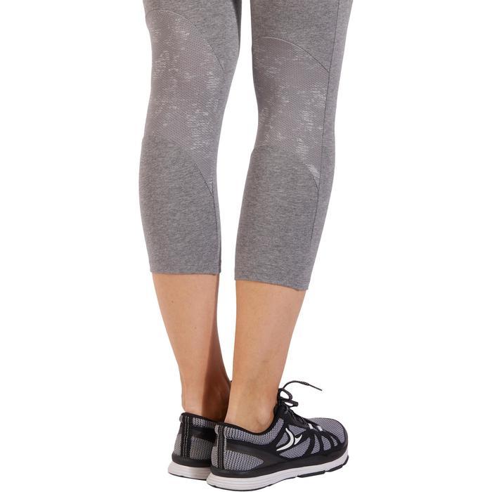 Legging 7/8 520 Gym & Pilates femme gris chiné - 1318502