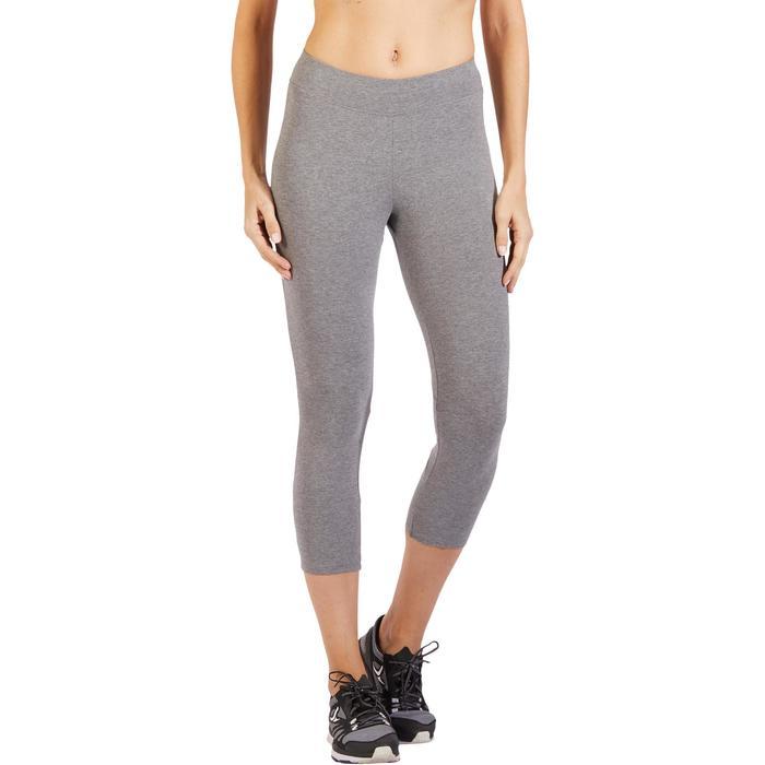 Legging 7/8 520 Gym & Pilates femme gris chiné - 1318503