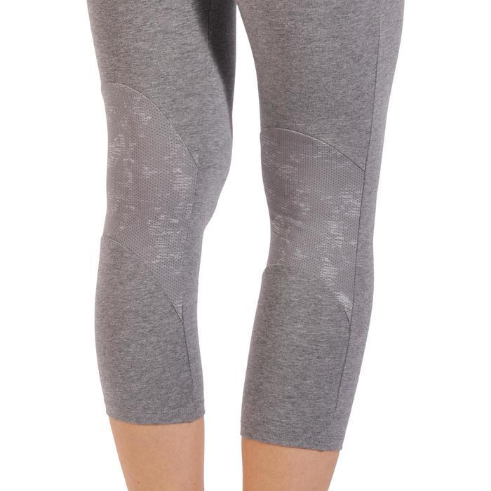Legging 7/8 520 Gym & Pilates femme gris chiné - 1318506