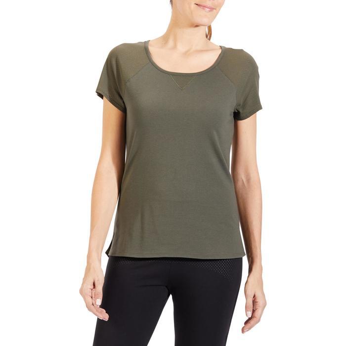 T-Shirt 900 manches courtes Gym & Pilates femme - 1318516