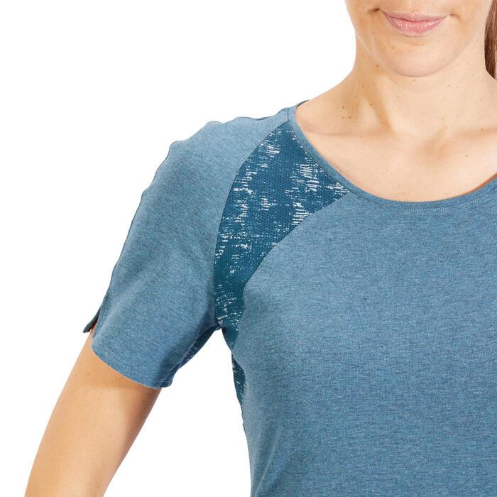 T-Shirt 520 manches courtes Gym & Pilates femme gris chiné clair - 1318525