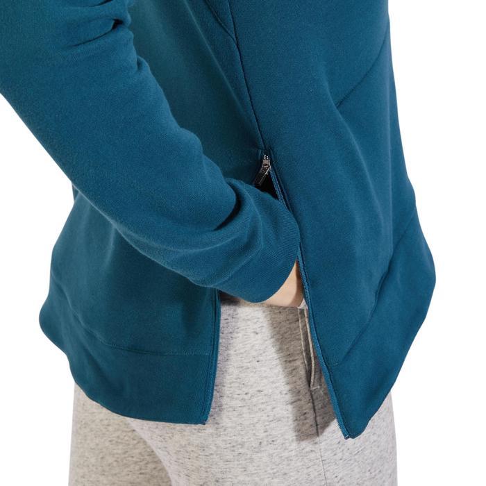 Sweat-shirt 900 Gym & Pilates Femme capuche bleu glacier - 1318534