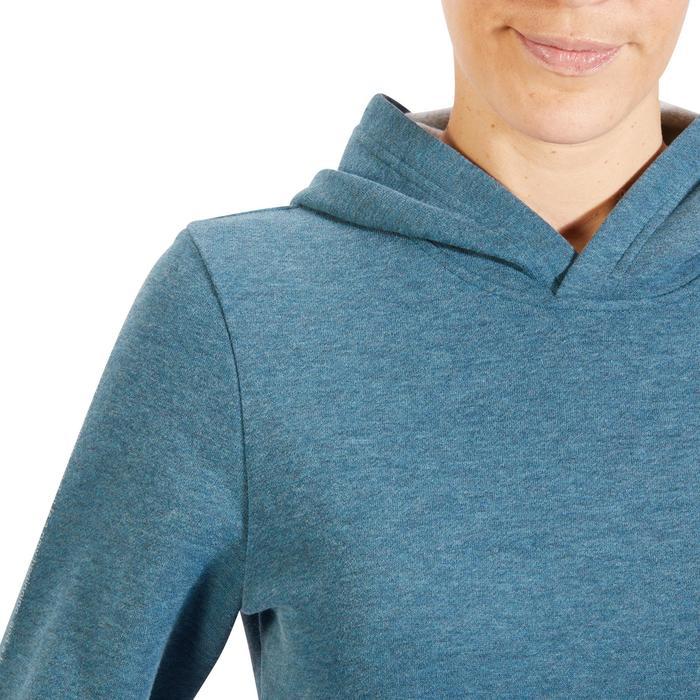 Sweat -shirt 520 Gym & Pilates Femme capuche turquoise chiné printé