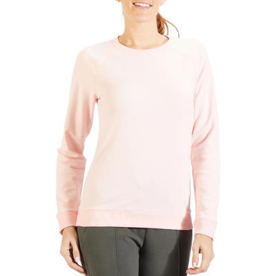 Sweat 500 Pilates Gym douce femme rose clair
