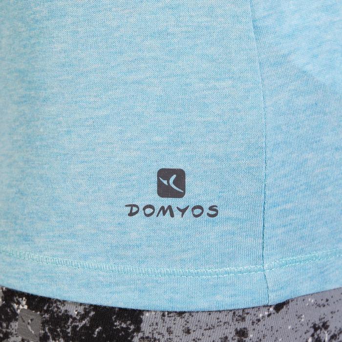 T-Shirt 500 régular manches courtes Gym & Pilates femme chiné - 1318554