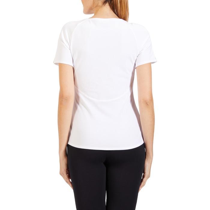 T-Shirt 520 manches courtes Gym & Pilates femme blanc