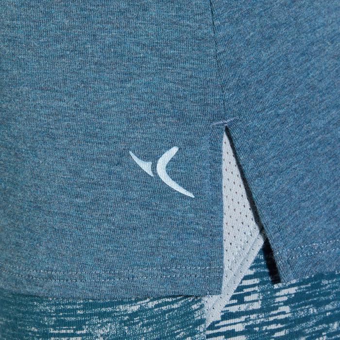 T-Shirt 520 manches courtes Gym & Pilates femme gris chiné clair - 1318566