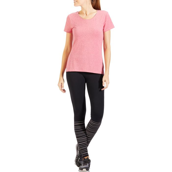 T-Shirt 500 régular manches courtes Gym & Pilates femme chiné - 1318577