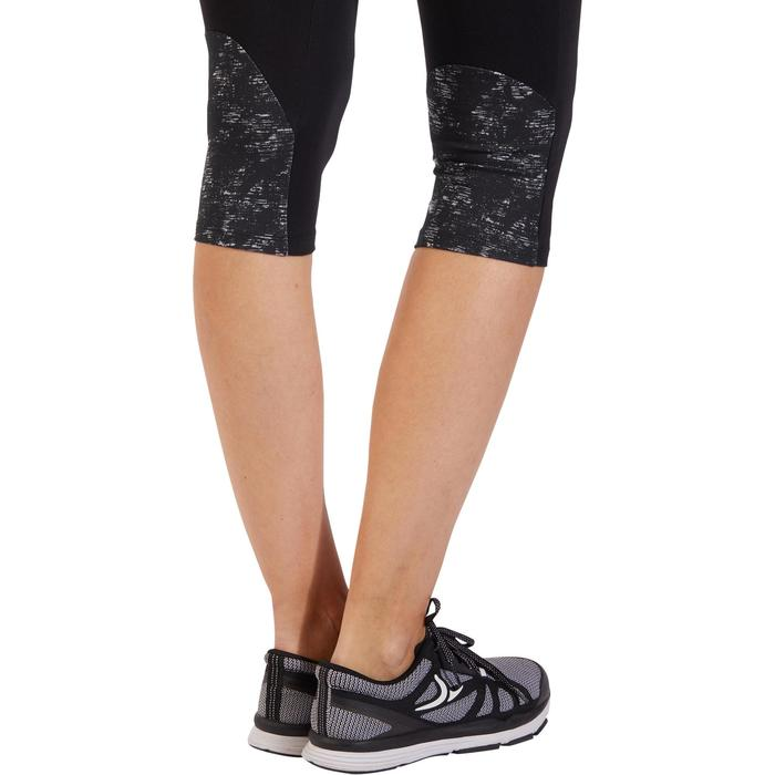 3/4-Leggings 520 Gym & Pilates Damen schwarz