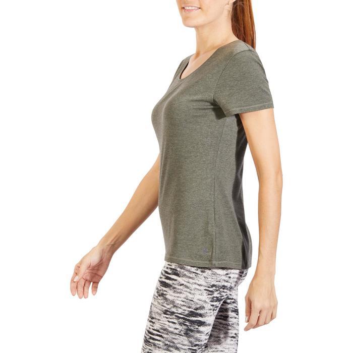 T-Shirt 500 régular manches courtes Gym & Pilates femme chiné - 1318580