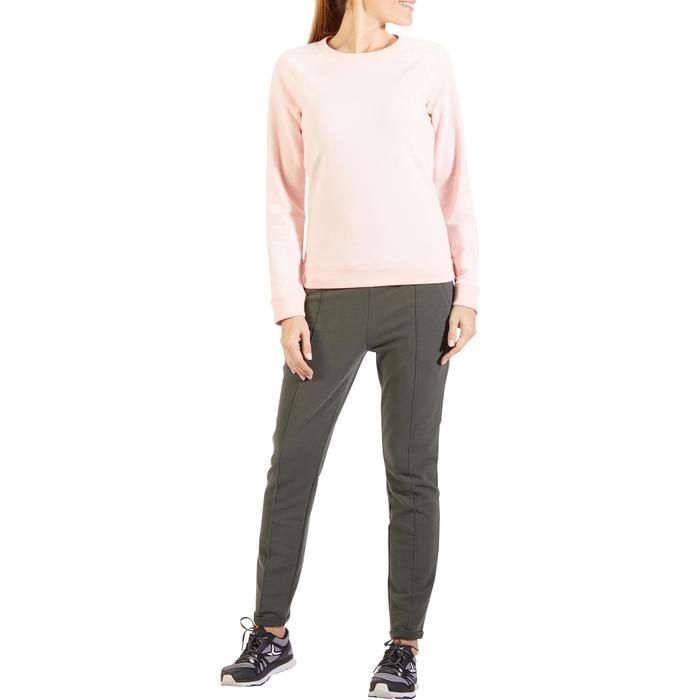Sweatshirt 500 Pilates sanfte Gymnastik Damen hellrosa