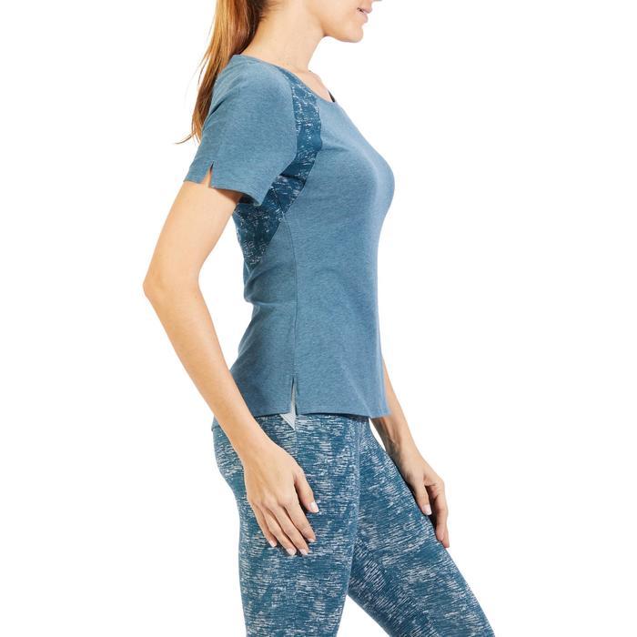 T-Shirt 520 manches courtes Gym & Pilates femme gris chiné clair - 1318592
