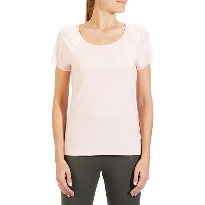 T-Shirt 900 manches courtes Gym & Pilates femme - 1318593