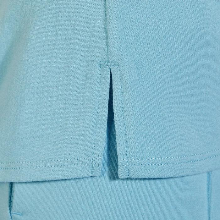T-Shirt 520 manches courtes Gym & Pilates femme bleu glacier