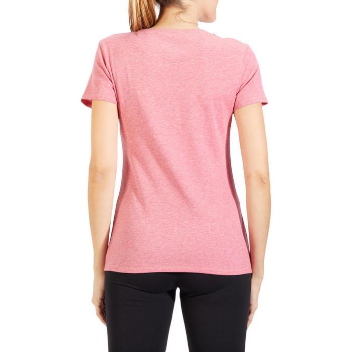 T-Shirt 500 régular manches courtes Gym & Pilates femme chiné - 1318596