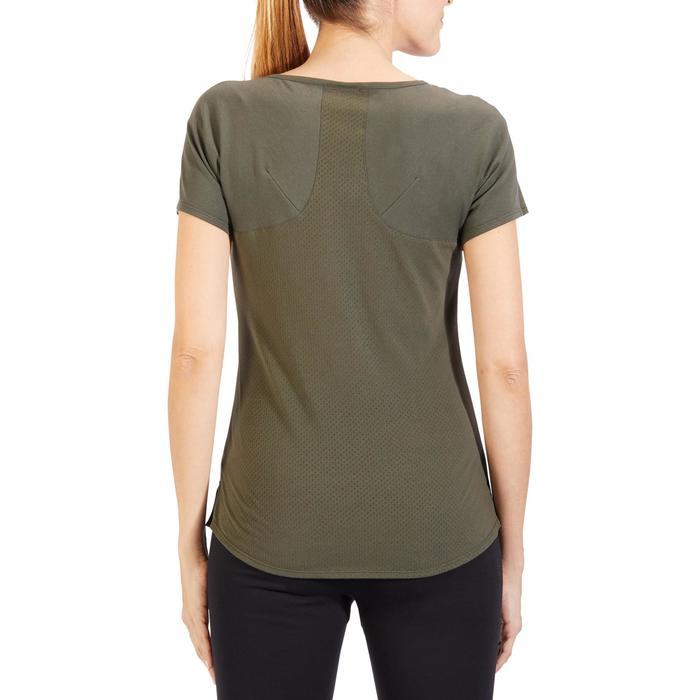 T-Shirt 900 manches courtes Gym & Pilates femme kaki