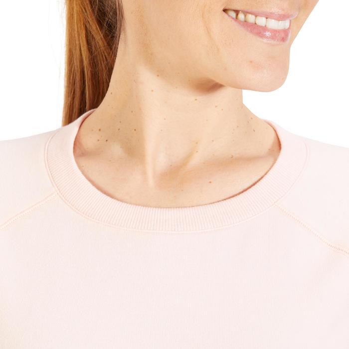 Sudadera 500 Pilates y Gimnasia suave mujer rosa claro