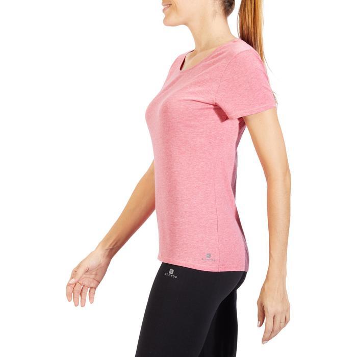 T-Shirt 500 régular manches courtes Gym & Pilates femme chiné - 1318603