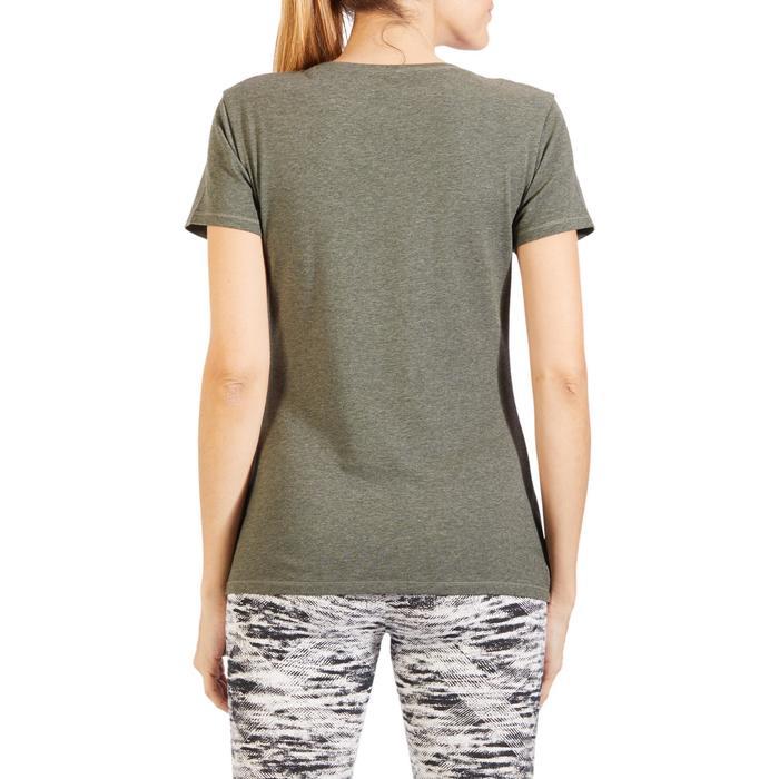 T-Shirt 500 régular manches courtes Gym & Pilates femme chiné - 1318607