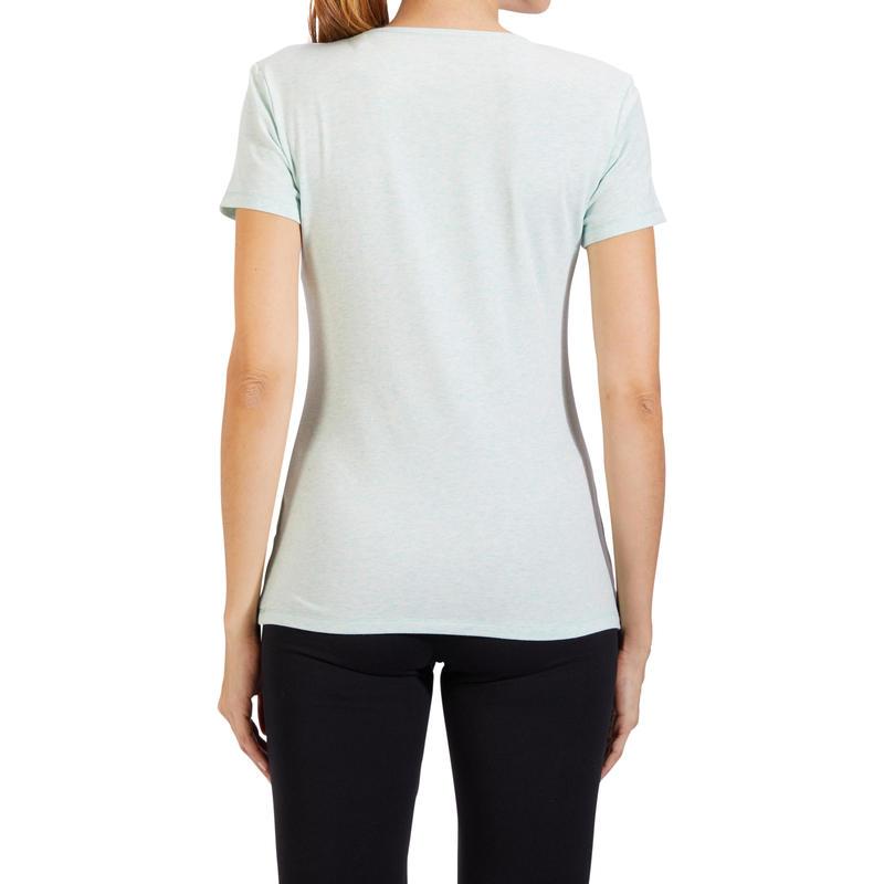 500 Women's Regular-Fit Pilates & Gentle Gym T-Shirt - Green