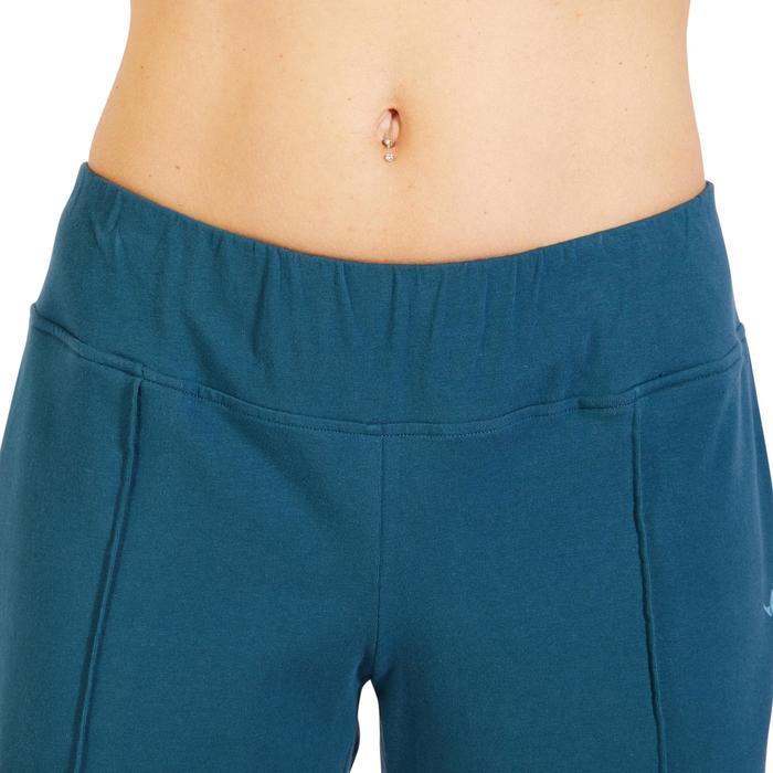Damesshort 520 voor gym en pilates turquoise