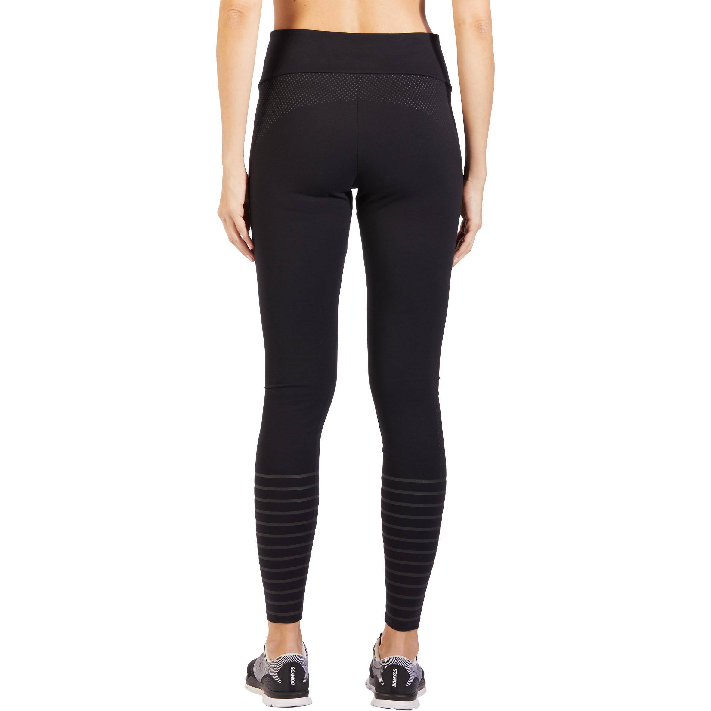 900 Women's Slim-Fit Gym & Pilates Leggings - Black