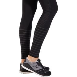 Mallas Leggings Deportivos Gimnasia Pilates Domyos 900 Slim Mujer Negro
