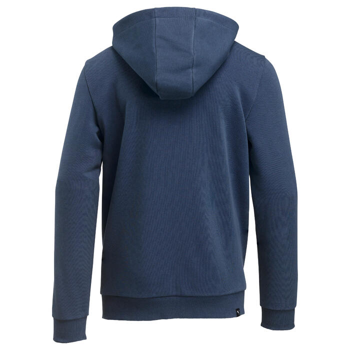 Veste Fitness capuche garçon bleu - 1318671
