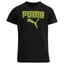 T-shirt Fitness jongens zwart