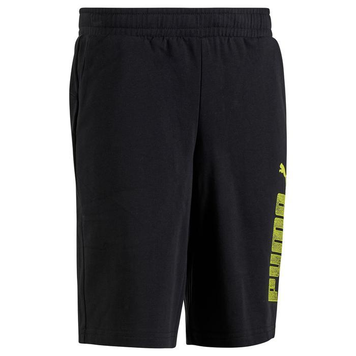 Short Fitness garçon noir - 1318713