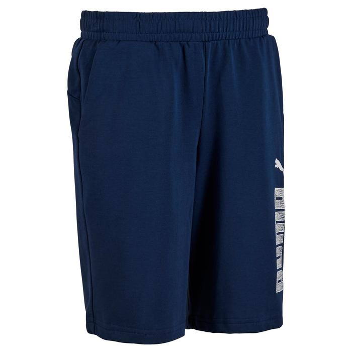 Fitnessshort jongens Puma blauw