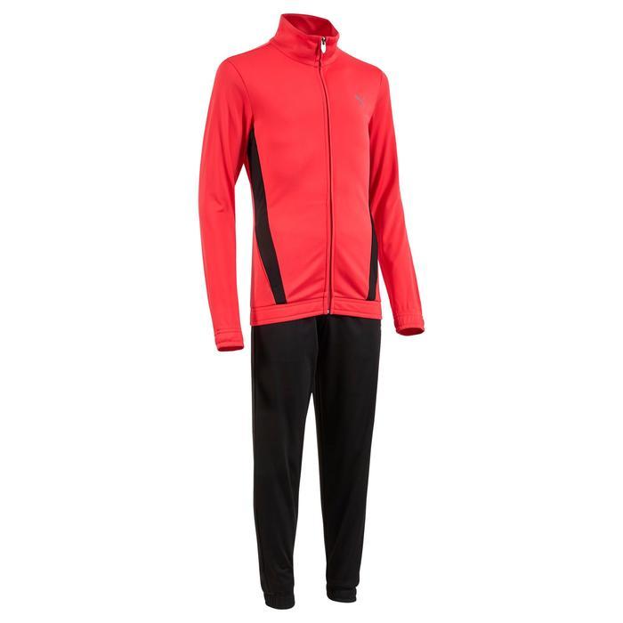 Survêtement Fitness fille noir rose - 1318773