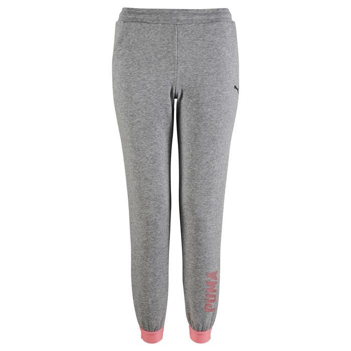 Pantalon Fitness fille gris - 1318775