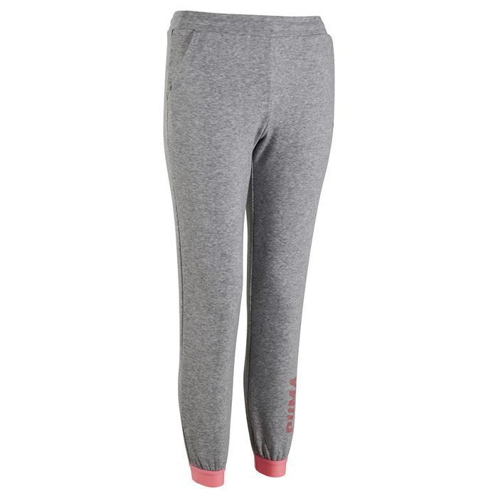 Pantalon Fitness fille gris - 1318779