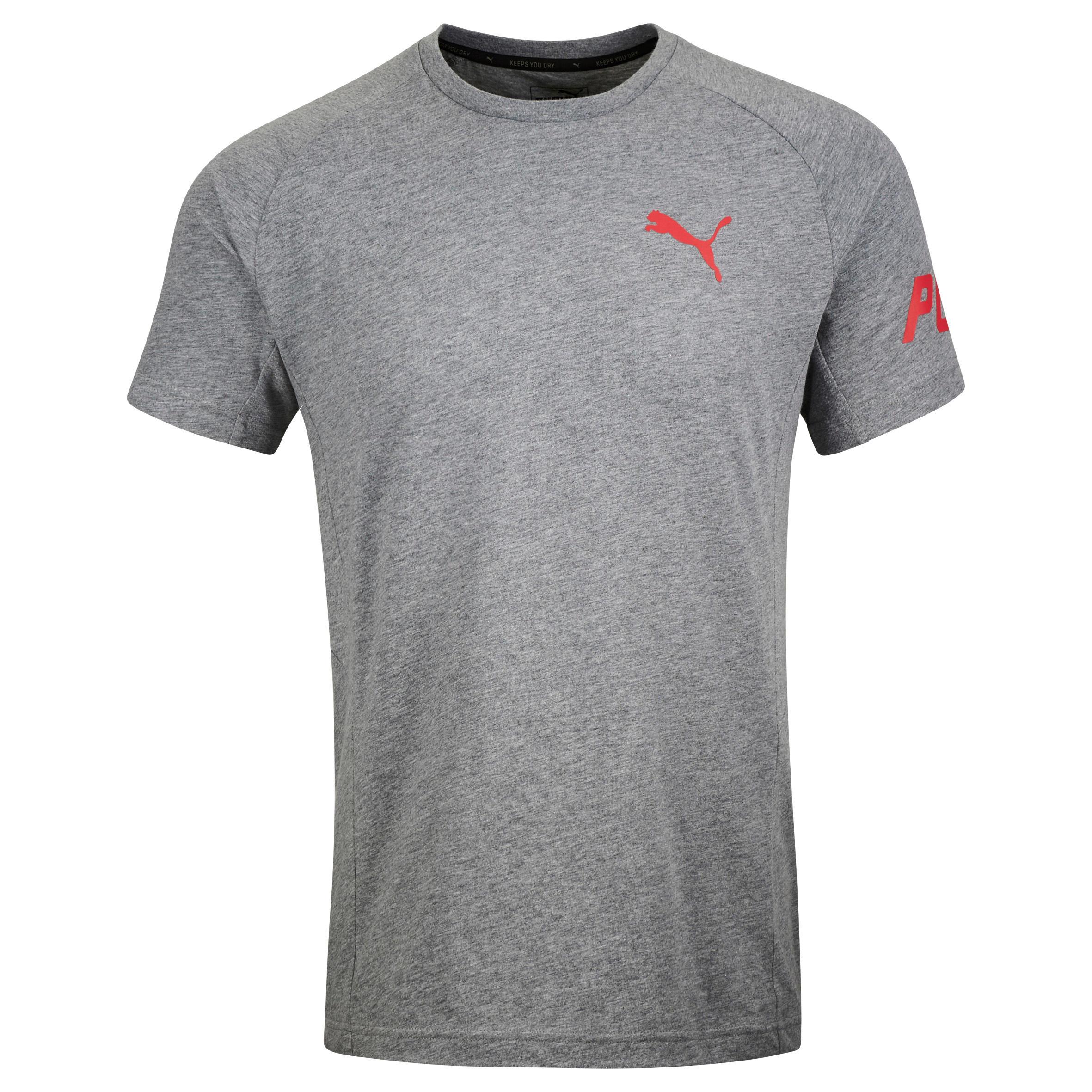 Puma Heren T-shirt Puma voor gym en pilates Active grijs