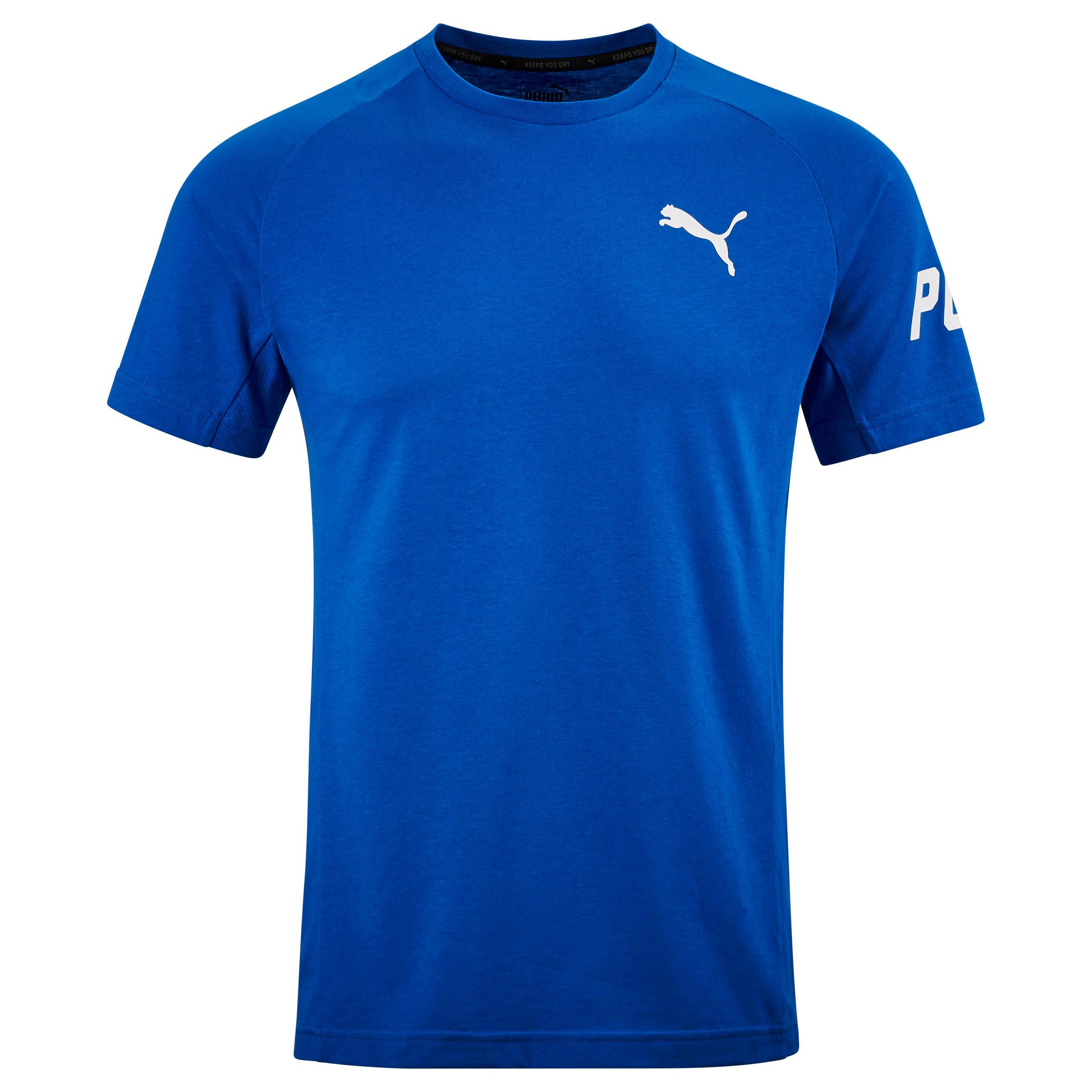 Puma Heren T-shirt Puma voor gym en pilates Active blauw