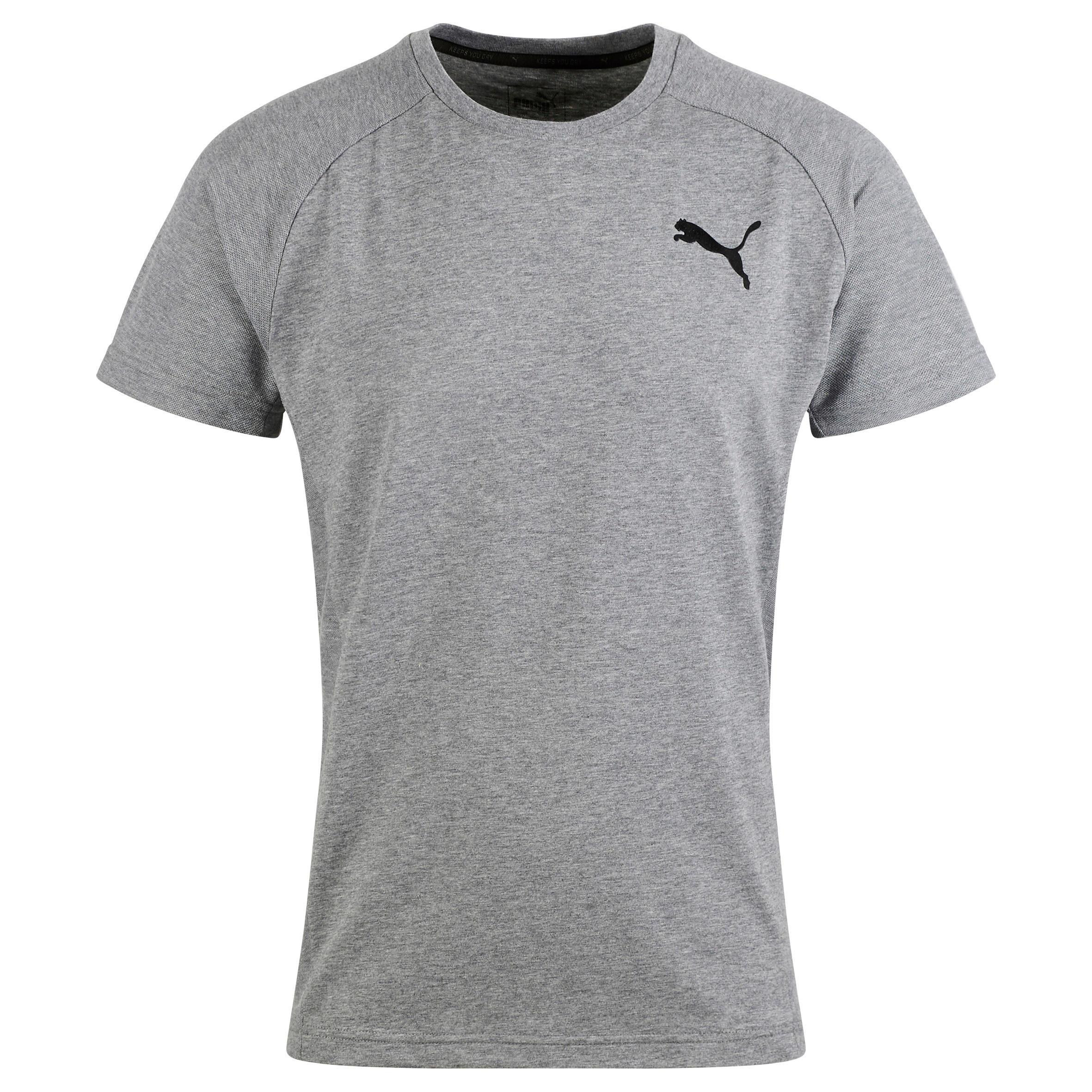 Puma Heren T-shirt Puma voor gym en pilates Evostripe grijs