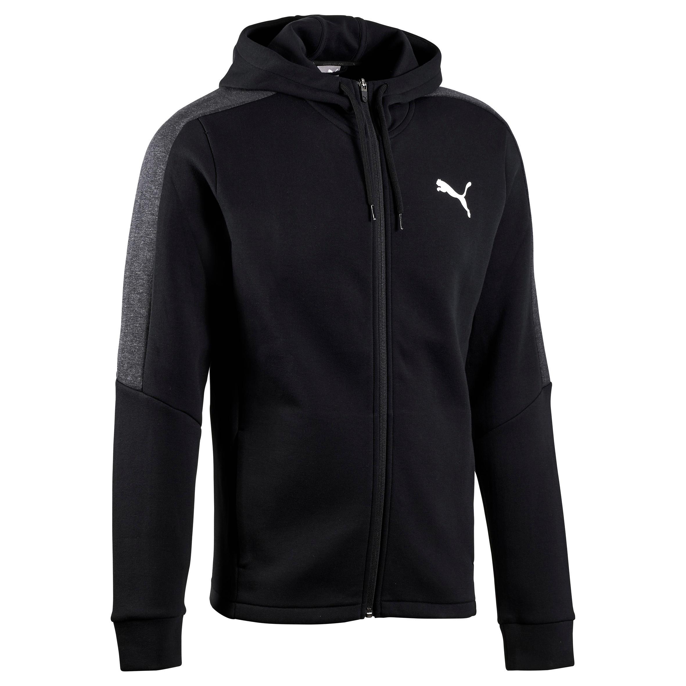Puma Heren hoodie met rits Puma voor gym en pilates Active zwart