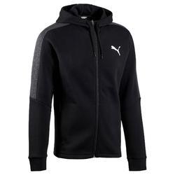 Heren hoodie met rits Puma voor gym en pilates Active zwart