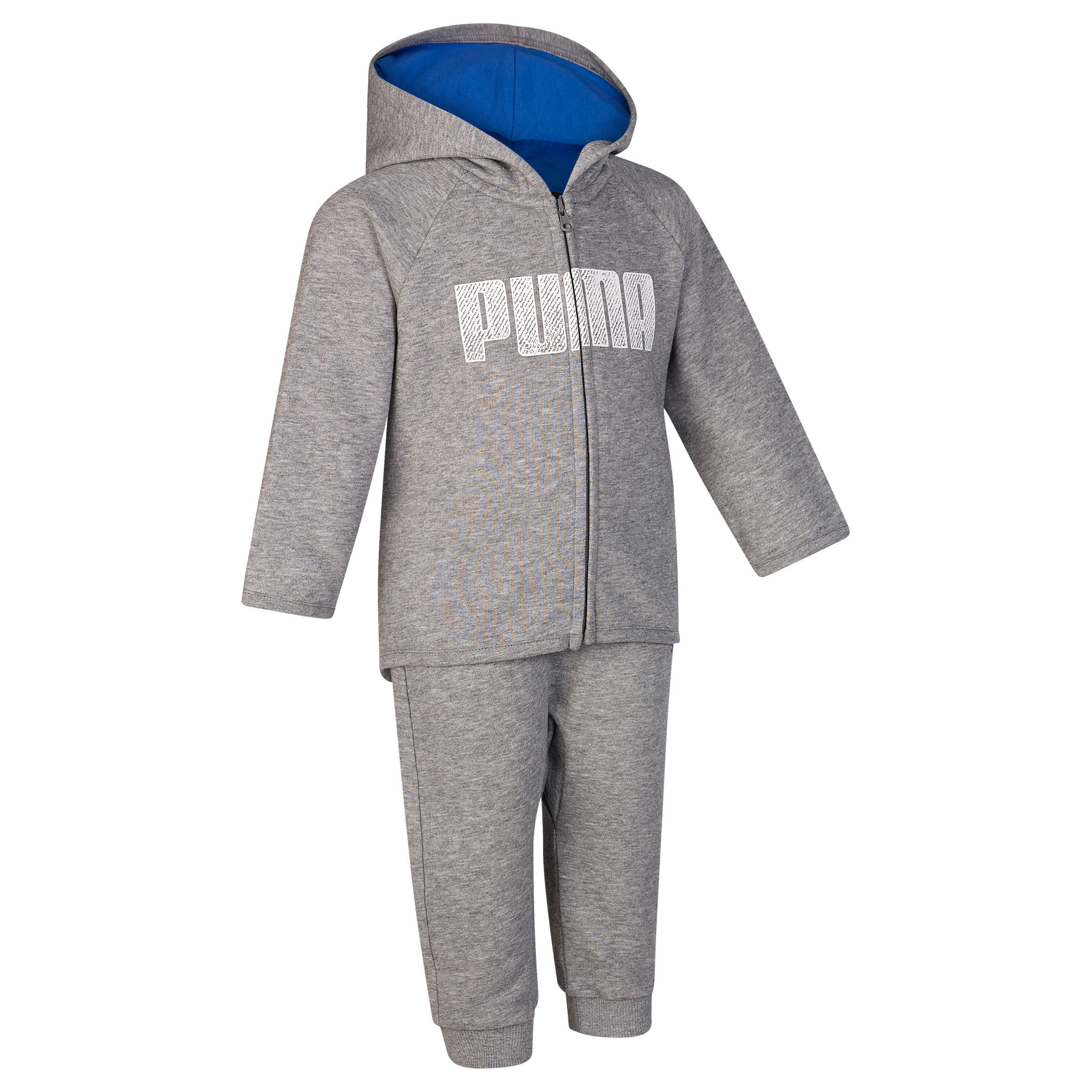 Puma Trainingspak voor kleutergym grijs blauw