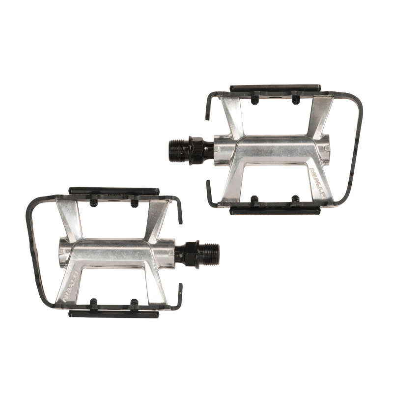 MTB PEDALS & CLEATS Cycling - Aluminium Mountain Bike Pedals ROCKRIDER - Bike Parts