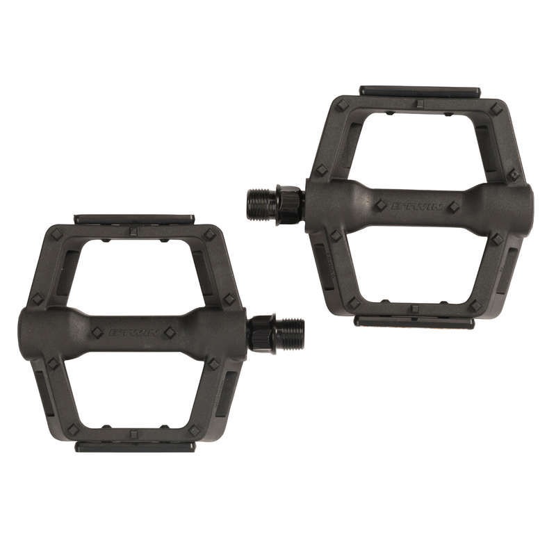 MTB PEDALS & CLEATS Cycling - 9/16° Mountain Bike Pedals ROCKRIDER - Bike Parts