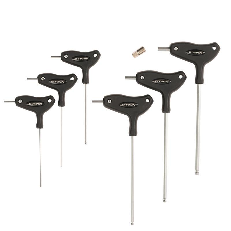 Set of 6 Allen Keys + 8 mm Adaptor
